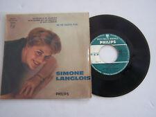 EP 4 TITRES VINYLE 45 T , SIMONE LANGLOIS , NE ME QUITTE PAS . VG - / VG -