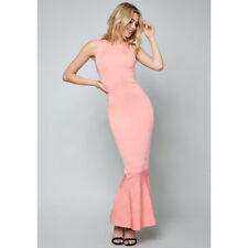 NWT Bebe Seamed Bandage Maxi Pink Dress Size S $179