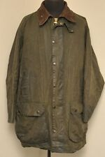 "BARBOUR di South Shields A200 Confine Cera Cotone Giacca Verde 48""/122CM EE15"