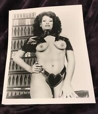VINTAGE 8 X 10 PHOTOGRAPH FROM IRVING KLAWS ARCHIVES OF VANESSA DEL RIO ACTRESS