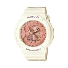 Casio Women's BGA131-7B2 Baby-G Rose Gold and White Resin Digital Watch