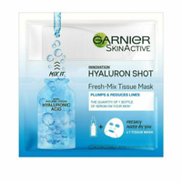 Garnier Skinactive Fresh Mix Tissue Mask Hyaluronic Shot Plumps & Smoothes 33mL