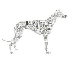 Personalised Greyhound Dog Lovers Word Art Print Great Gift