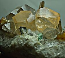 634 GRM full terminatd perfect Topaz crystals,Quartz,Mica,fluorite on Quartz@Pak