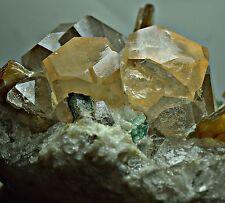 634 GRM full terminatd perfect Topaz crystals,Quartz,Mica,fluorite on Quartz@Pak