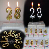 Happy Birthday Numbers Candles For Wedding Birthday Party Cake Decoration