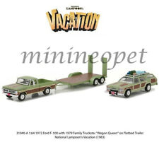 GREENLIGHT 31040 A NATIONAL LAMPOON'S VACATION WAGON & 1972 FORD F-100 1/64 SET