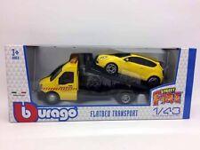 BBURAGO 1:43 Abschleppwagen mit  Alfra Romeo Mito gelb