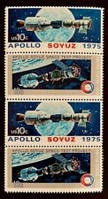 US Stamps, Scott #1569-70 10c Apollo-Soyuz Space 1975 Strip of 4 VF/XF M/NH