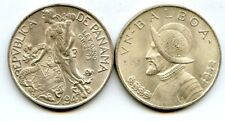 PANAMA - Un Balboa 1947 - Large Brilliant Uncirculated Silver Coin  LUSTER