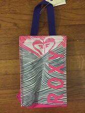 NEW ROXY School Bag Lunch Cooler Tote Insulated Box Multi-Color Pink