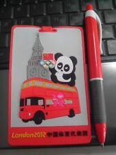 2012 LONDON OLYMPIC CHINA NOC PANDA BIG BEN BUS LUGGAGE BAGGAGE TAG