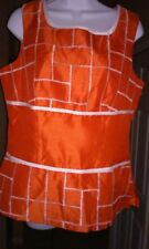 New with tag Betsy's Things orange white top size 12 sleeveless