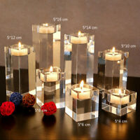 Crystal Diamond Cut Tealight Candle Stand Holder Wedding Party Home Table Decor