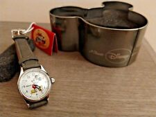 Disney by Ingersoll Ladies Classic Mickey Mouse Grey Nubuck Strap Watch 25570