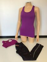 sweaty betty 3 Piece Outfit Leggings, Gym Top  Muscle Vest Top Size S / Xs
