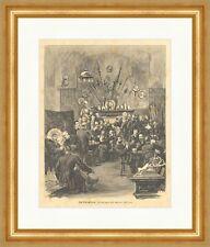 The Smoke Club Walter Wilson SWORDS SCABBARD Fireplace Men's Room Wood Engraving E 4405