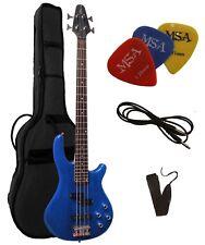 E-Bass, JB10 blau, von Vision-mit Gigbag-Tasche+ Gurt/Band +3xPiks-Plektren!n