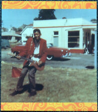 JIMI HENDRIX POSTER PAGE . 1950S SEATTLE WITH RED DANELECTRO ELECTRIC GUITAR .E1
