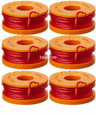 6-Pack Grass Trimmer / Edger for WA0010 WORX GT Spool Line 10-Foot