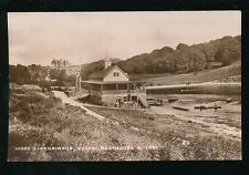 Wales Radnorshire LLANDRINDOD WELLS Boathouse lake & rowers pre1919 RP PPC