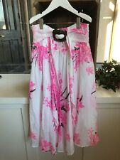 Girls Hot Pink Floral Sundress With Ruching Size 7/8
