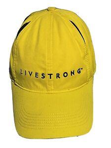 Nike Livestrong Yellow Black Flex Fit Hat Cap One Size Fits All Lance Armstrong