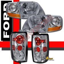 1997-2002 Ford Expedition XLT Eddie Bauer Headlights Corner + Tail Lights Chrome