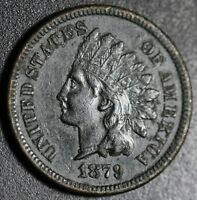 1879 INDIAN HEAD CENT - With LIBERTY & DIAMONDS - XF EF Details