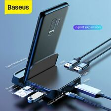 Baseus USB Type C HUB HDMI USB SD/TF Docking Station Power Adapter for PC Phone