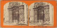 Rouen Grille Da L Chiesa St. Ouen Francia Foto Stereo PL55L2n Vintage Albumina