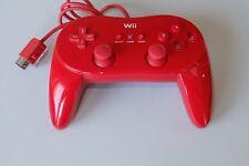 Original Wii Classic Controller Pro rojo