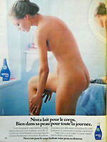 PUBLICITÉ DE PRESSE 1978 NIVÉA LAIT POUR LE CORPS HYDRATE VOTRE PEAU EN DOUCEUR