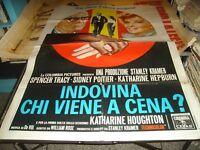 INDOVINA CHI VIENE A CENA ? manifesto 2F originale 1967 TRACY HEPBURN