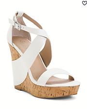 CHARLES by Charles David Atlantis Wedge Sandals White