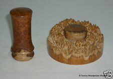 Wooden Palm Gavel & Block Handmade Brown Mallee Burr Tommy Woodpecker Woodworks