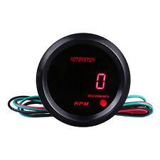 """Car Motor HOTSYSTEM 2"""" 52mm Red Digital LED 9999 RPM TACHOMETER GAUGE #7040"""