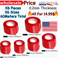 60M RED Film 3M Transparent DOUBLE SIDED STICKY ADHESIVE TAPE Cell Phone Repair