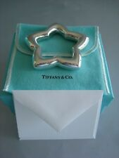 """TIFFANY sterling silver ~ NEW IN BOX~ """"STAR"""" RATTLE BABY  pouch,card,bag"""