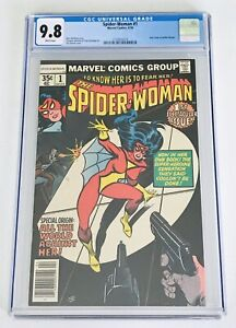 CGC 9.8 SPIDER-WOMAN #1 Marvel Comics 1978 New Origin Jessica Drew White Pages