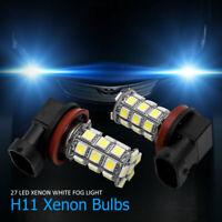 2Pcs H8/H11 27 SMD Voiture LED Phare Feux Brouillard Lampe  Ampoule Blanc 6000K