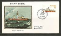 Canada Scott # 779 Canadian Ice Vessels - Labrador . Colorano Silk Cachet.