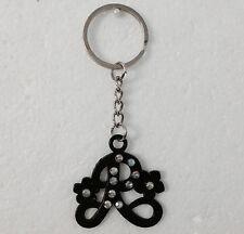 Letter R keyring Chain Gift keyChain Valentine's Gift Black Letter R Gift Unisex