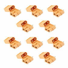 10X XT60 Bullet Connector Plugs Male / Female RC Connector Plugs 5 Pairs New