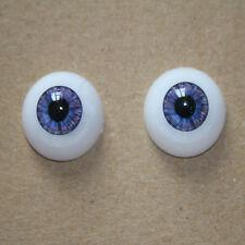 22mm Reborn Baby Doll Eyeball Half Round Acrylic Purple Eyes Doll Accessories 04