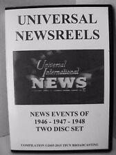 UNIVERSAL NEWSREELS 1946 - 1947 - 1948 (2 DISC SET)