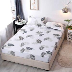 Elastic Fitted Sheet Crystal Velvet Bed Linen Mattress Cover Solid Color 1pcs