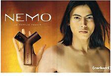 PUBLICITE ADVERTISING  2000   CACHAREL PARFUM NEMO (2 pages)
