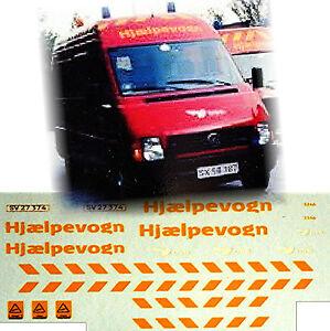 VW Lt 35 Ord Railway Fire Brigade Pompier 1:87 Autocollant Décalcomanie