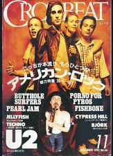 Crossbeat Japan Nov/1993 Porno For Pyros U2 Bjork Pearl Jam Jelly Fish Butthole